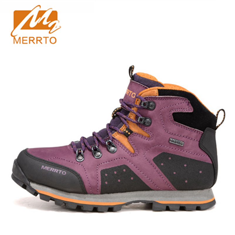 2017 Merrto Lovers Hiking Shoes Trekking Boots Waterproof Outdoor Shoes First leather For Lovers Free Shipping MT18518/MT18517 yin qi shi man winter outdoor shoes hiking camping trip high top hiking boots cow leather durable female plush warm outdoor boot