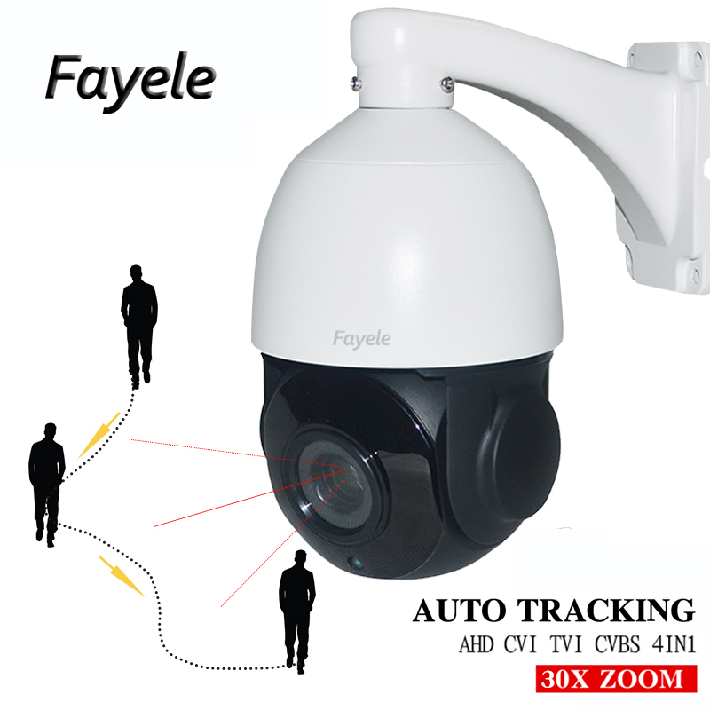 De sécurité AHD 1080 p 2MP suivi Automatique PTZ caméra IR Haute Vitesse Dôme Pan Tilt 30X Zoom Auto Tracker AHD CVI TVI CVBS 4IN1 Coaxial UTC