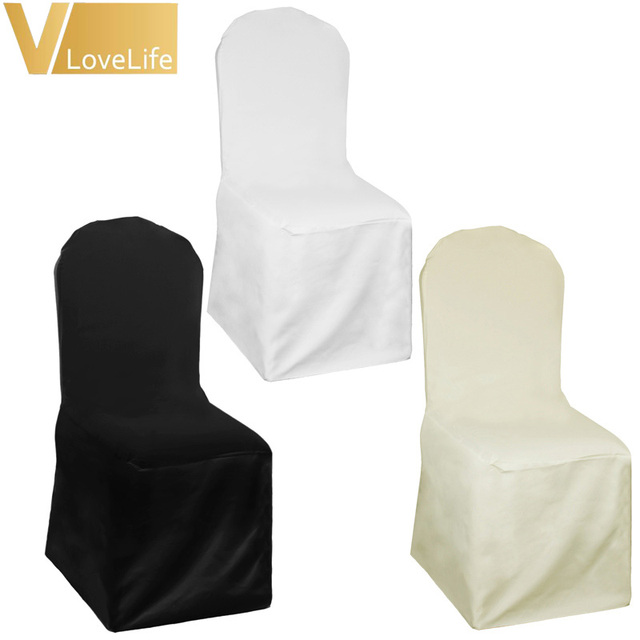 Black Banquet Chair Covers For Sale Pink Student Desk 10pcs Lot Ivory White Polyester Cover Wedding Party Event Decor Supplies