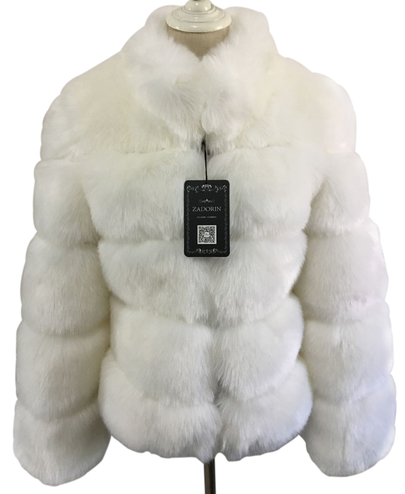 32e71cef92ace ZADORIN New Winter Coat Women Faux Fox Fur Coat Plus Size Women ...