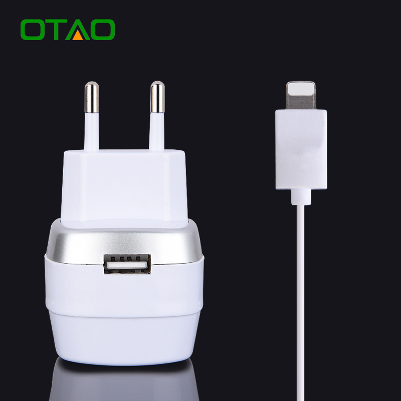 EU Plug Mobile Phone Charger Portable Quick Charge Retractable Hidden Cable  Travel Wall Charger Adapter For
