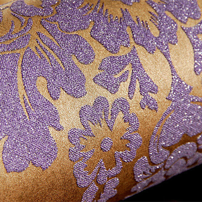 2015 new luxury wallpapers gradient purple khaki gray embossed 3d damask mural europe gold foil wall paper of glitter rolls for in wallpapers from home