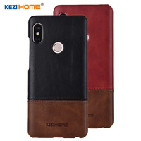 Case For Xiaomi Redmi Note 5 KEZiHOME Luxury Hit Color Genuine Leather Hard Back Cover Capa