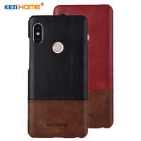 Case for Xiaomi Redmi Note 5 KEZiHOME Luxury Hit Color Genuine Leather Hard Back Cover capa For Redmi Note 5 Pro Phone cases