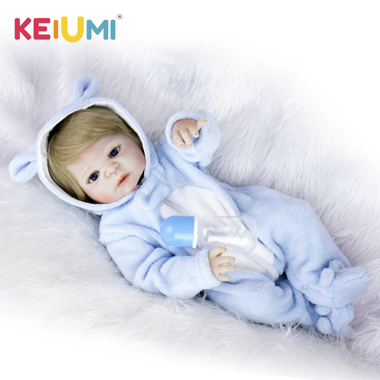 KEIUMI, Реалистичная кукла для новорожденных, Bonacas, 57 см, полностью силиконовая виниловая кукла для новорожденных, игрушка для младенцев, кукла для детей, подарок на день рождения