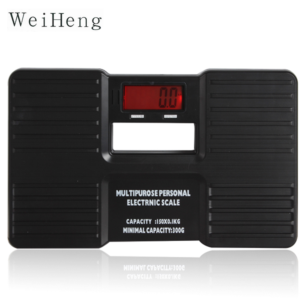 150kg / 0.1kg Household Bathroom Floor Scales Mini Portable Electronic Digital Body Health Scales Weight Measuring LCD Display