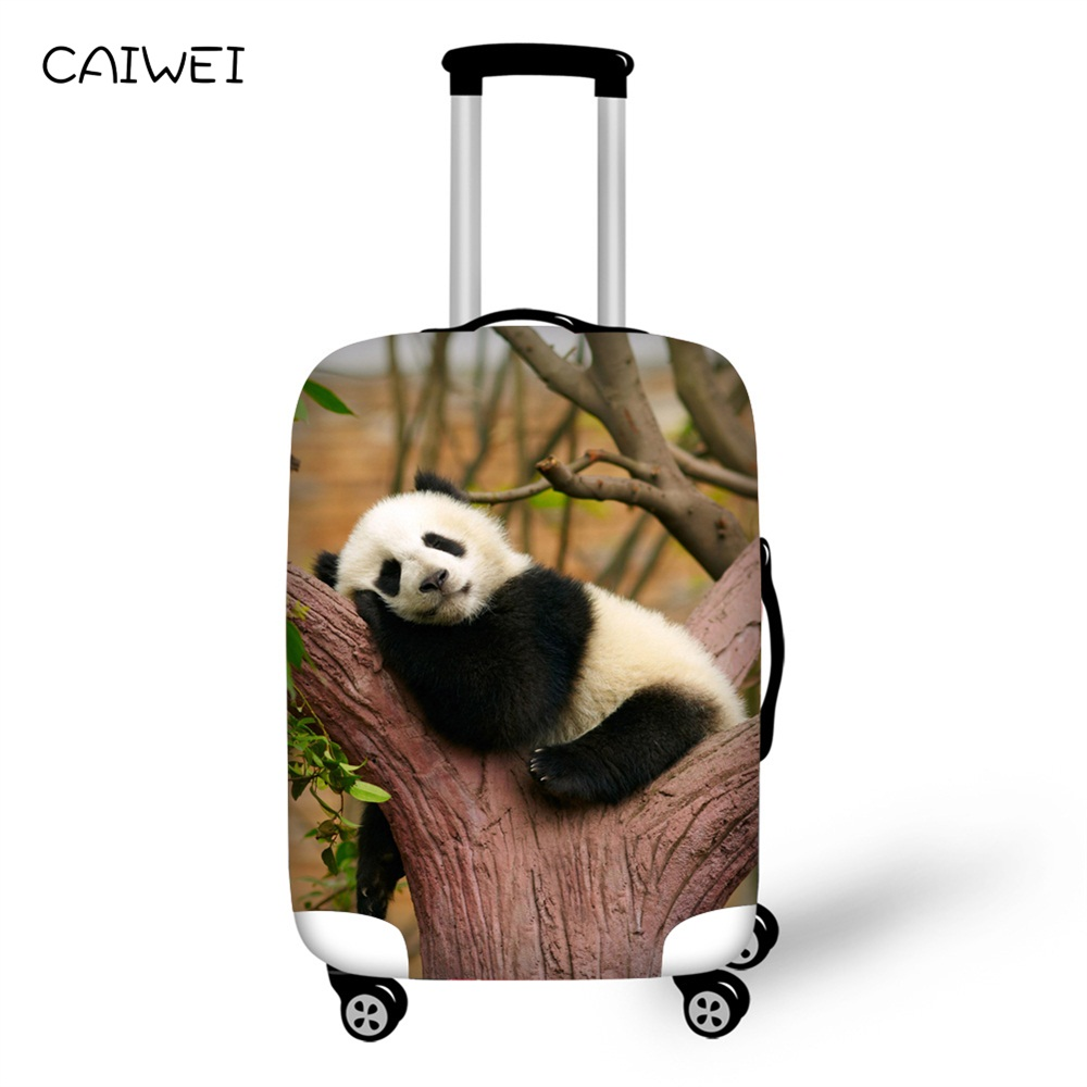 Stretch Waterproof Luggage Cover to 18-30 Inch Suit Case Cute Panda Print Suitcase Protective Covers Travel Accessories