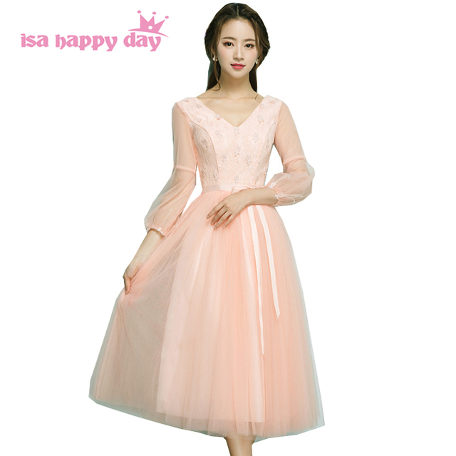 Modest Formal Pink Peach Bridesmaid Special Occasion Gorgeous Formal
