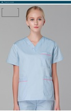 New Arrived!Hospital Beauty Salon Clinic Woman Doctor Surgical Scrub Set Short Sleeve Isolation Medical Suit Nurse Shirt Pant