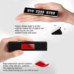 Image 5 - Car Styling Car Phone Number Plate Temporary Car Parking card with Switch 3D Hidden Mobile Cell Phone Number Card Car Sticker