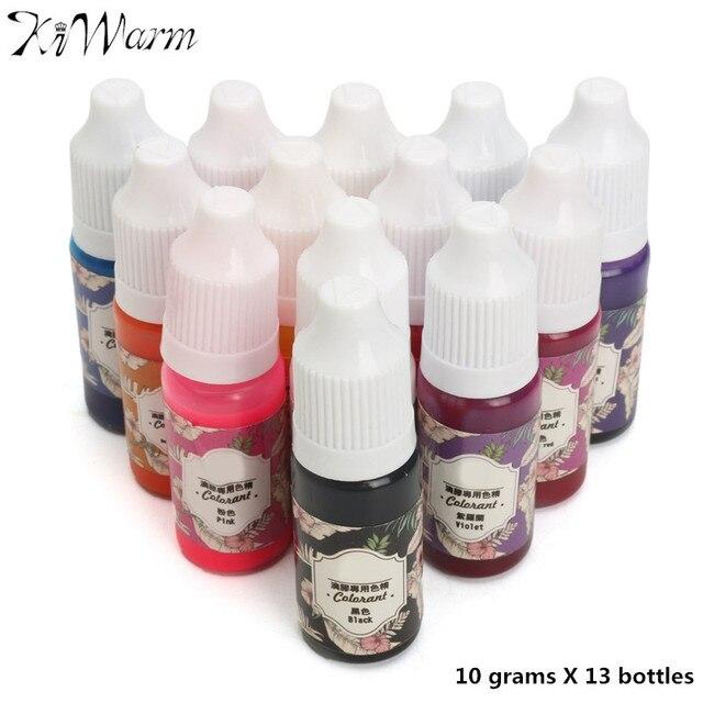 US $12 67 16% OFF KiWarm 13Pcs 10g High Quality Epoxy UV Resin Coloring Dye  Colorant Pigment DIY Handmade DIY Craft Art Sets 13 Colors No Smell-in DIY
