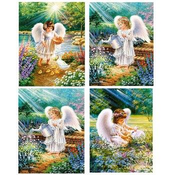 Mosaico de diamantes Ángel venta bordado de diamantes Pantalla Completa cuadrado de diamantes de imitación imágenes decoración 5d Hada de pintura de diamante