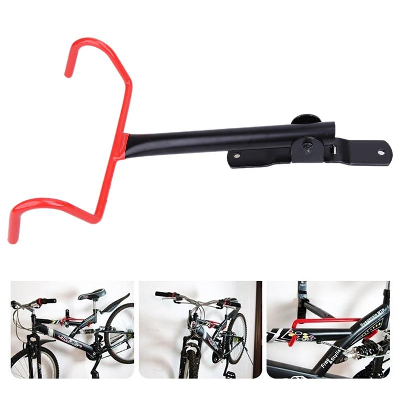 Black Bicycle Wall Mount Bike Mount Rack Stand Solid Steel