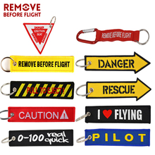 New Remove Before Flight Key Chain OEM Embroidery Fobs Pilot Ring Jewelry Car Keychain Aviation Gifts Chaveiro