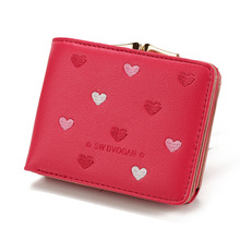 10PCS / LOT New Small Wallet Woman Coin Purse Fashion Female Hasp Mini Lovely Leather Ladies Wallets Women Clutch Money Holder