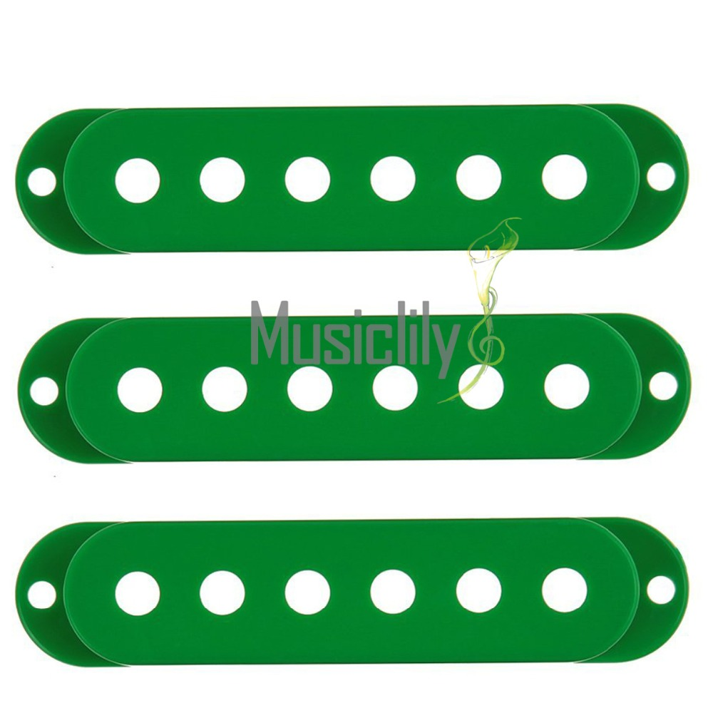 ④Musiclily 52mm plástico Single Coil Pickup Covers para Fender ...
