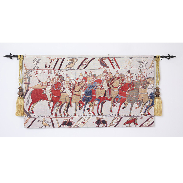 Medieval Bayeux Tapestry (la reine Mathilde) Wall Tapestry Wall ...