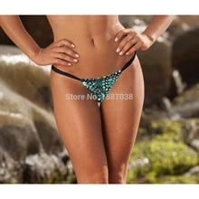 New Hot Women's Emerald Tankini T-Back Sexy Tongs Bikini Green Stone Pants Ladies Floral Brazilian Bikini S M L XL A1