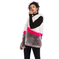NEW Hit color Very Good Quality Fake Fur Vest Coat Winter Women Luxury Faux Fur Vest Thick Warm Fur Woman Elegant Faux Fur Vest