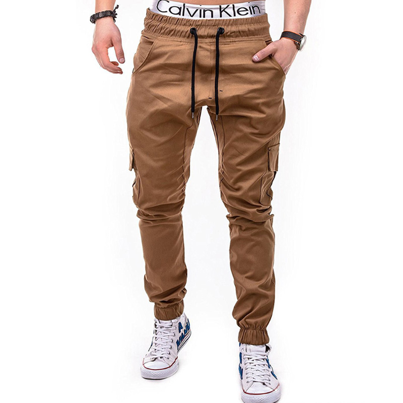 Men Joggers 2019 New Casual Pants Brand Clothing High Quality Spring Long Khaki Elastic Male Trousers Mens 3XL