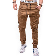 Men Joggers 2019 New Casual Pants Brand Clothing High Quality Spring Long Khaki Elastic Male Trousers Mens 3XL