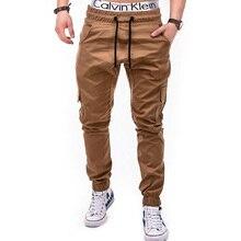 купить Men Joggers 2019 New Casual Pants Men Brand Clothing High Quality Spring Long Khaki Pants Elastic Male Trousers Mens Joggers 3XL дешево