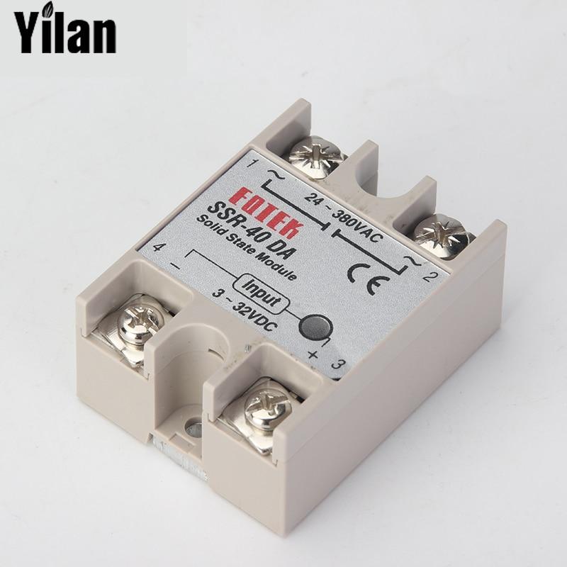 CNOBLE solid state relay SSR-60DA SSR-80DA SSR-100DA 60A 80A 100A actually 3-32V DC TO 24-380V AC SSR 60DA 80DA 100DA top brand