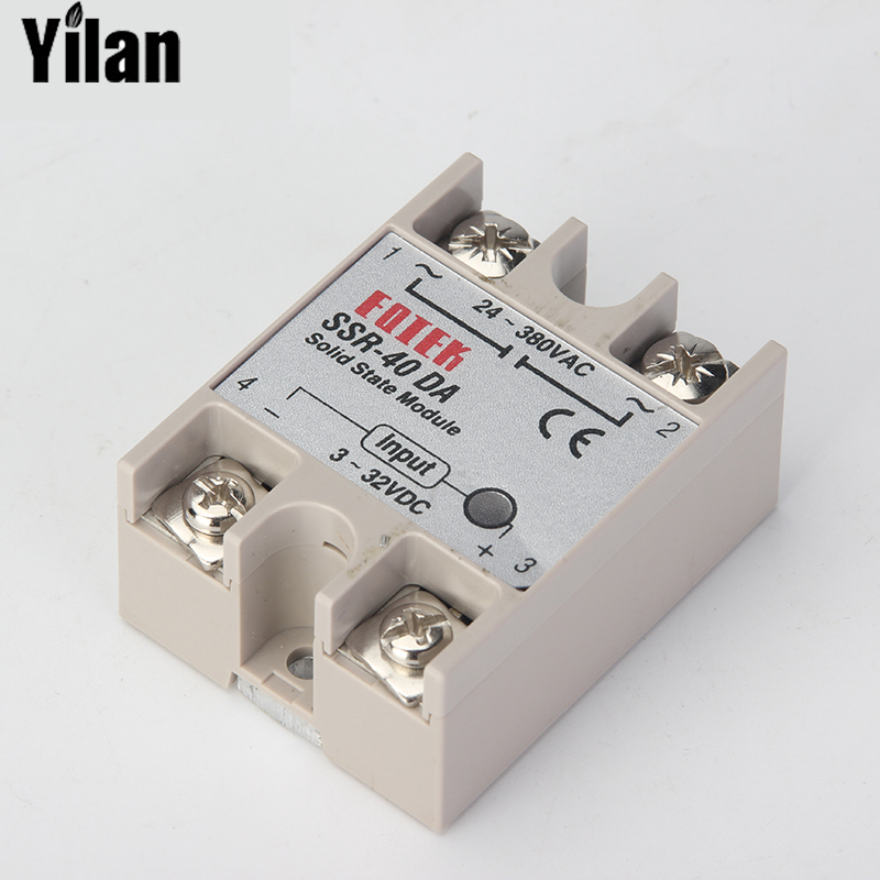 цена на CNOBLE solid state relay SSR-60DA SSR-80DA SSR-100DA 60A 80A 100A actually 3-32V DC TO 24-380V AC SSR 60DA 80DA 100DA top brand