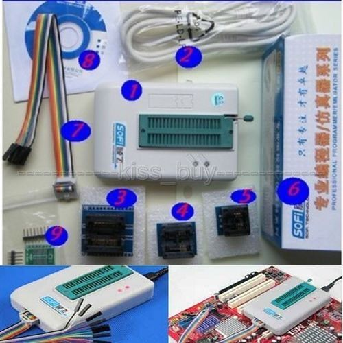 USB Universal Programador EEPROM SPI Flash BIOS 24/25/BR90/93 5000 + BATATAS FRITAS SP8-A