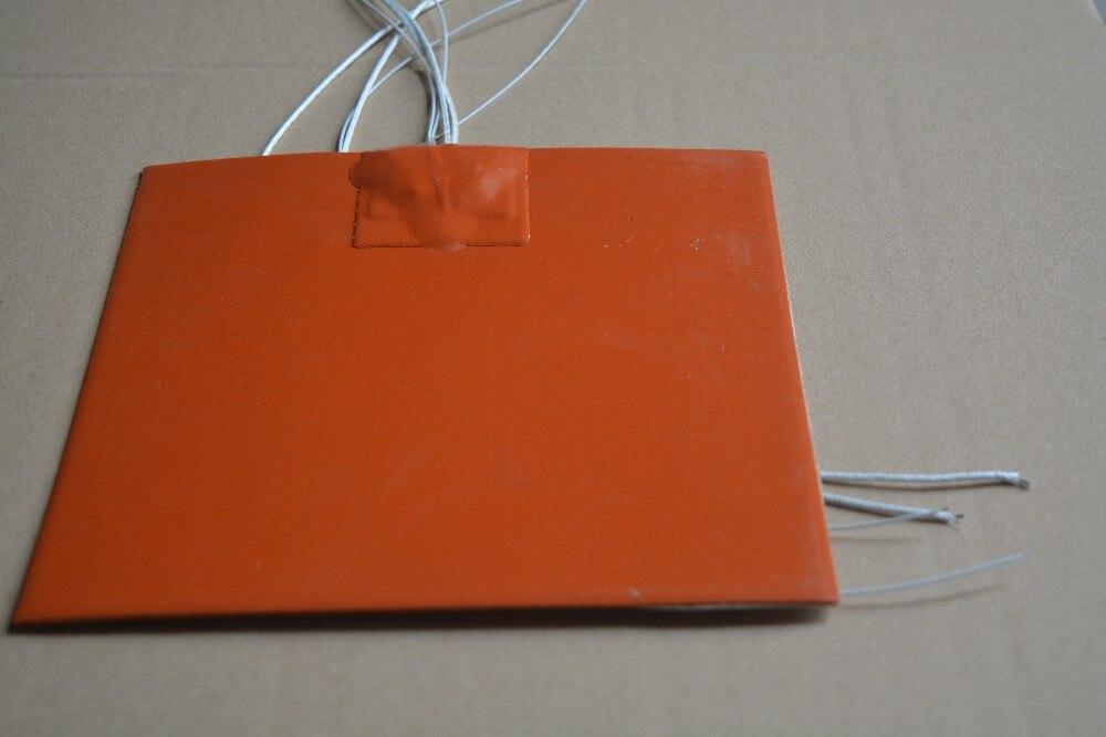 Resistencia silicona pad calentador de 220 V 250 W 220mm x 220mm para 3d de calor de la impresora de cama 1 unids