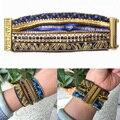 Bohemia Hipanem Bracelets DIY Women Bracelet Indian Gold&Blue Luxury Jewelry Provide Make Logo HIP090