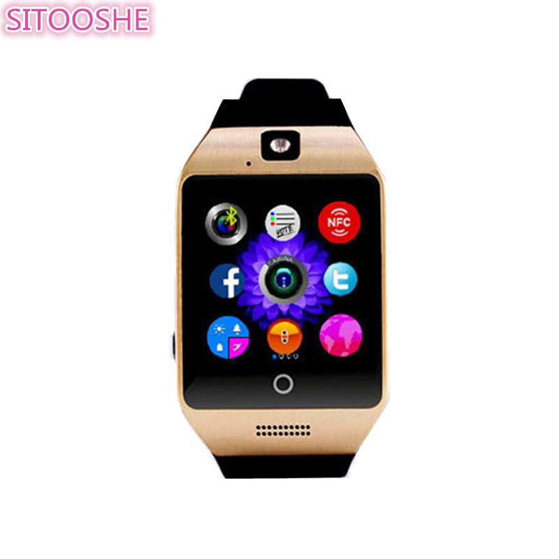 SITOOSHE Q18S Smart Watch Phone SIM Card Remote Camera Fitness Tracker Sport Watches NFC Smartwatch for Apple Iphone Android