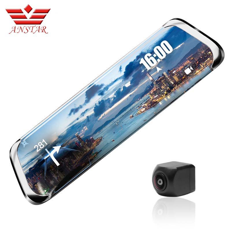 ANSTAR Dash Cam full HD 1920x1080 p Voiture DVR Caméra Rétroviseur ADAS WiFi 10''IPS 4g vidéo Caméra Langue Russe Greffier
