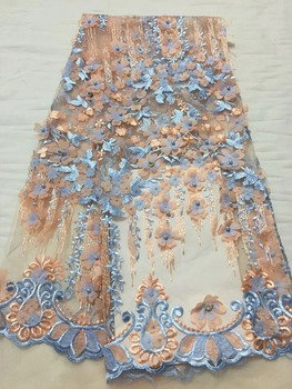 African Laces Fabric Embroidered nigerian Guipure French Lace Fabric High quality 2018 African French Net Lace Fabric CDN162