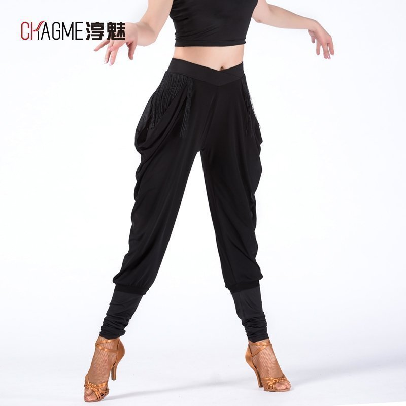 New Latin Dance Clothes Acrobatics Tassels Pants