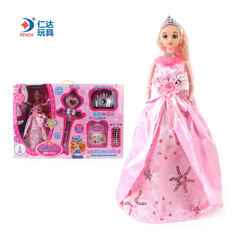 New Princess Cute Intelligent Talking Singing Baby Doll Blinking Eyes Dolls Dducation Toys For Girls Vinyl Realistic Gifts Toys