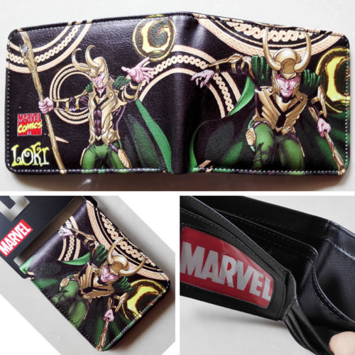 2018 Marvel The Avengers The Thor Loki Logo wallets Purse Leather Man women W161 2018 epic game gears of war logo wallets purse red leather man women new w135