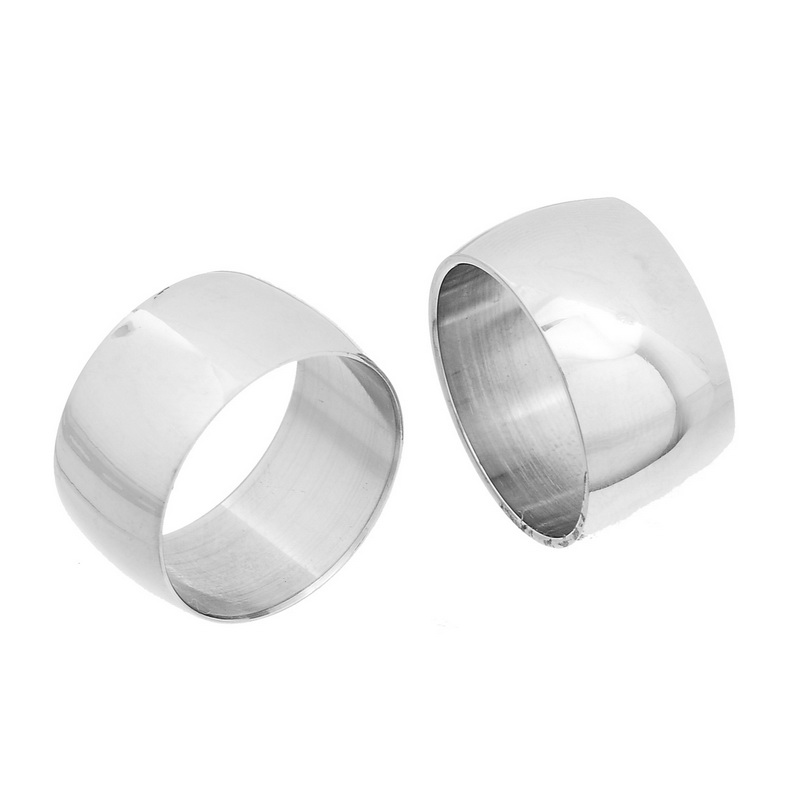 LASPERAL 1PC Stainless Steel Wide Rings For Women Smooth Ban