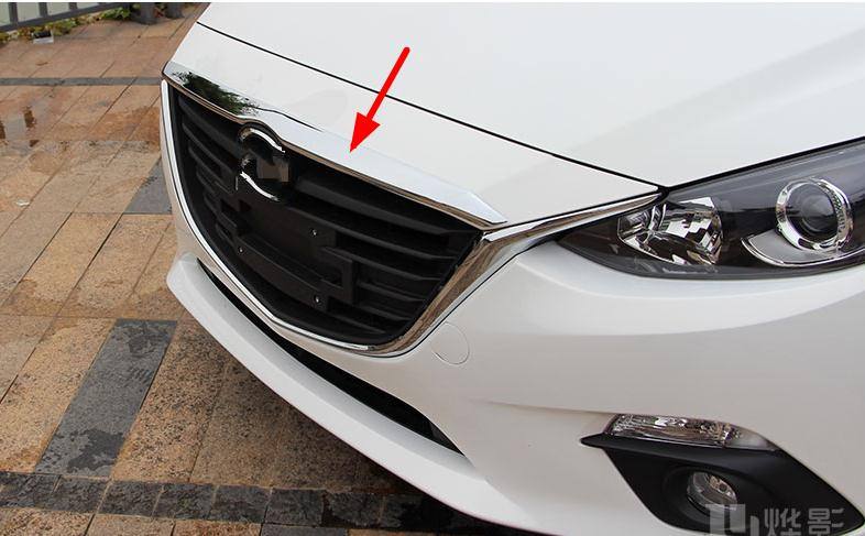 fit for 2014 2015 2016 AXELA 3 chrome plated before the machine cover shield, trim molding grille trim flue gas grill bar 1 image