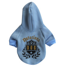 Badge Pattern Puppy Dog Hoodie Coat Spring/Autumn Cat Small Dogs Jacket Sweater Jumpsuit Pet Teddy Chihuahua Casual Sweatshirt