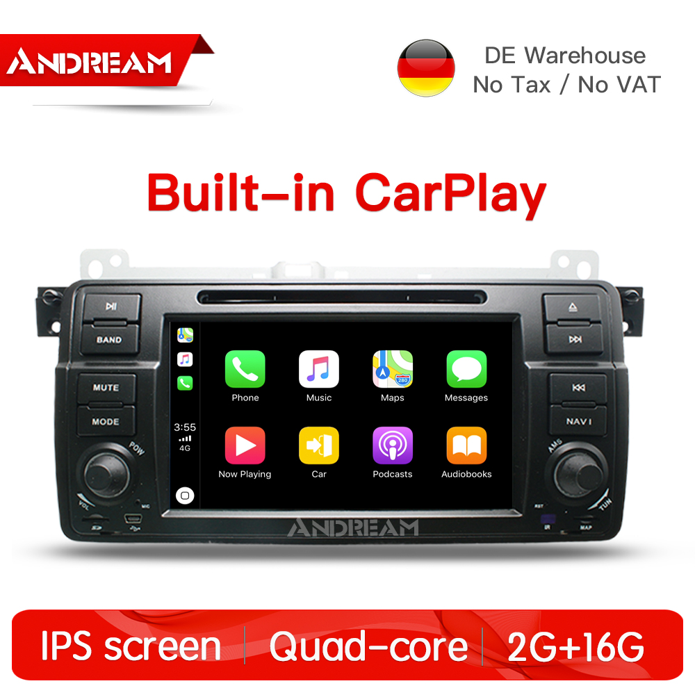 Quad Core Android 7.1 2G+16G Built in carplay IPS screen Car DVD Player For BMW/E46/M3/MG/ZT GPS Navigation Radio FM