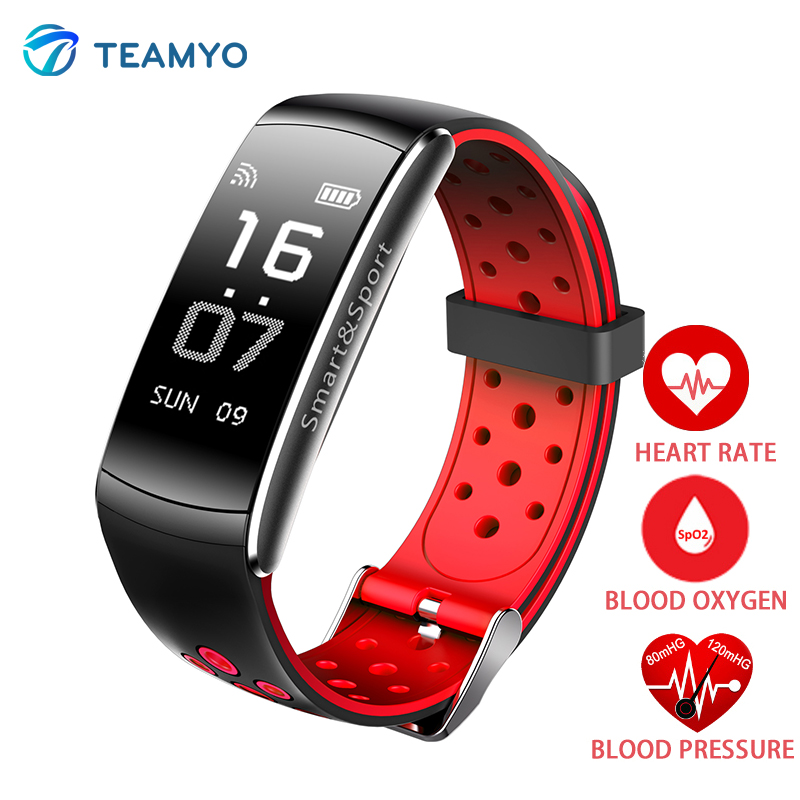 Teamyo IP68 Smart wristband watches blood pressure Activity tracker Fitness bracelet Sport Watch monitor cardiaco band Pedometer