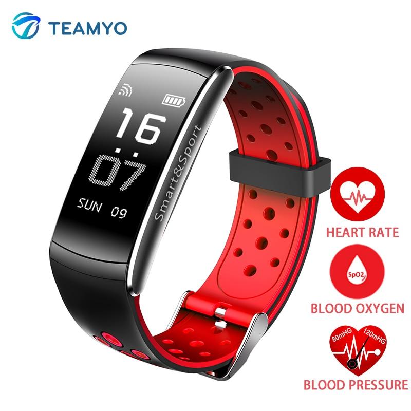 Teamyo IP68 Smart bracelet montres sang pression Activité tracker Fitness bracelet Sport Montre moniteur cardiaco bande Podomètre