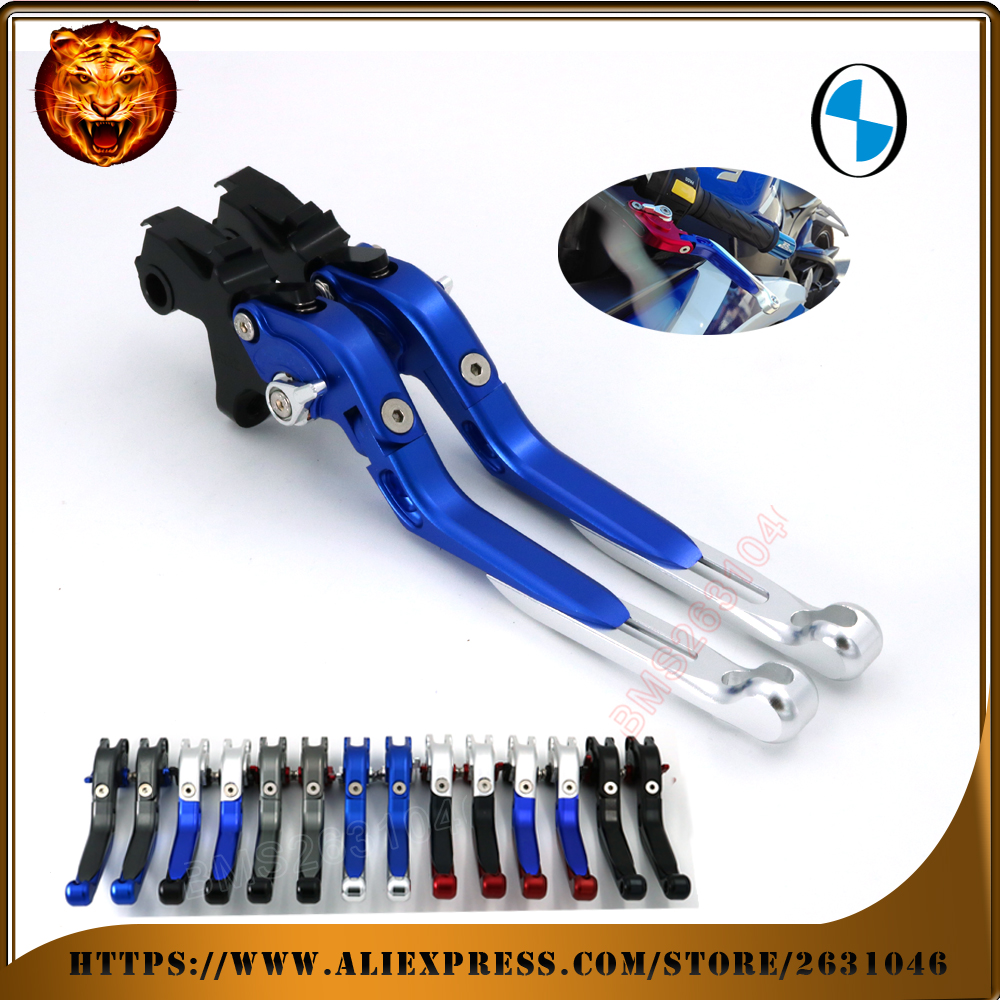 For BMW K1200GT K1200LT R1200RT R1150GS ADVENTURE R1150R BLUE BLACK Motorcycle Adjustable Folding Extendable Brake Clutch Lever for bmw r1100rt r1100s r1150gs r1150gs adventure r1150r motorcycle accessories folding extendable brake clutch levers black
