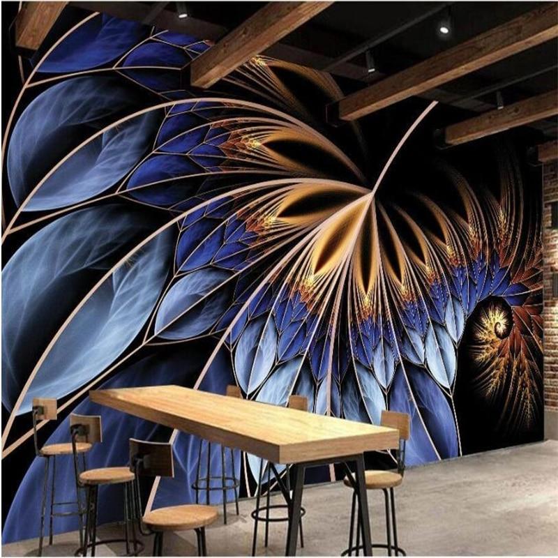 beibehang Custom wallpaper bedroom dazzling feather table desktop background wall bar design Wallpaper papel de parede