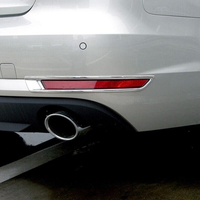Il trasporto Libero di Alta Qualità ABS Cromato Posteriore fendinebbia copertura Trim lampada della Nebbia ombra Trim Per Audi A4 B9