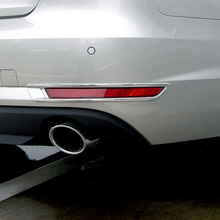 Livraison gratuite de haute qualité ABS Chrome feux de brouillard arrière garniture de couvercle de lampe de brouillard abat jour garniture pour Audi A4 B9