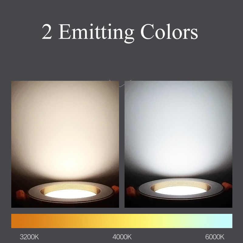 Точечный светодиодный светильник 220 В 5 Вт 9 Вт 10 Вт 15 Вт Светодиодный точечный светильник утопленная светодиодная направленная вниз светильник освещение для спальни кухня, прихожая белая