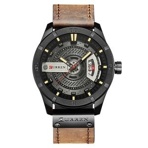 Image 2 - CURREN Hot Fashion Creative Watches Casual Military Quartz Sports Wristwatch Display Date Male Clock Hodinky Relogio Masculino