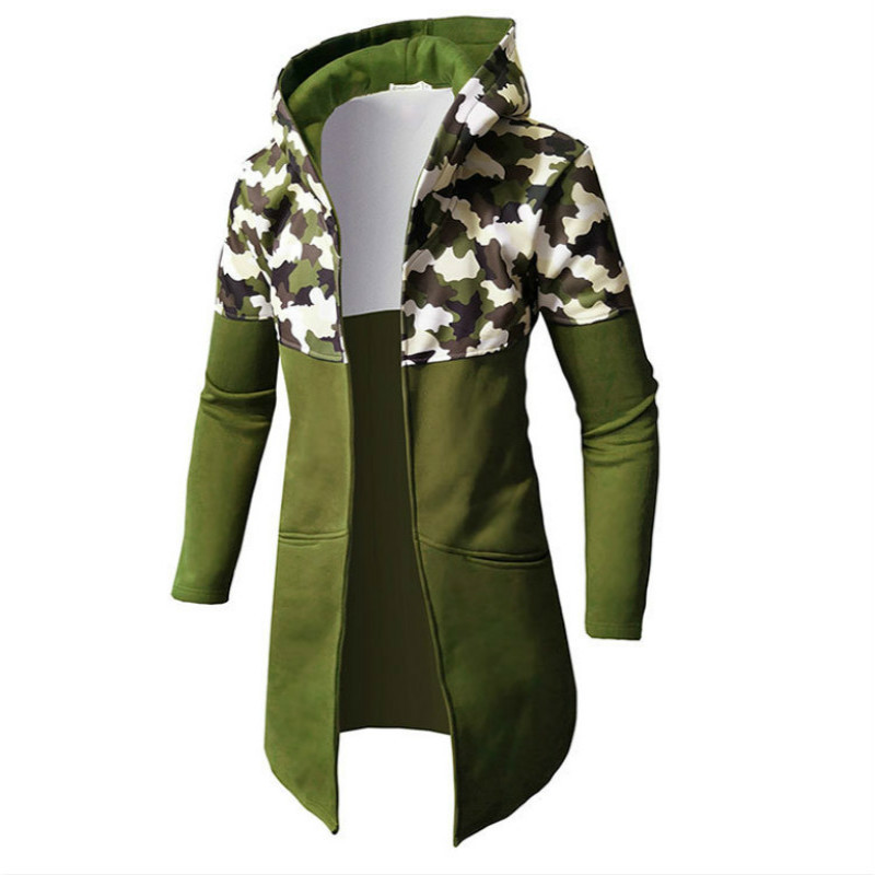 Autumn Winter New Men's Camouflage Color Long Sleeve Hoodie Fashion Mens Hooded Jackets Cardigan Men Casual Male Tops 4 Colour